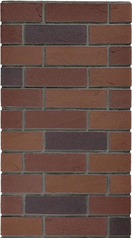 Netherfields Red Multi Acrylic Brick Slip - 1sqm.