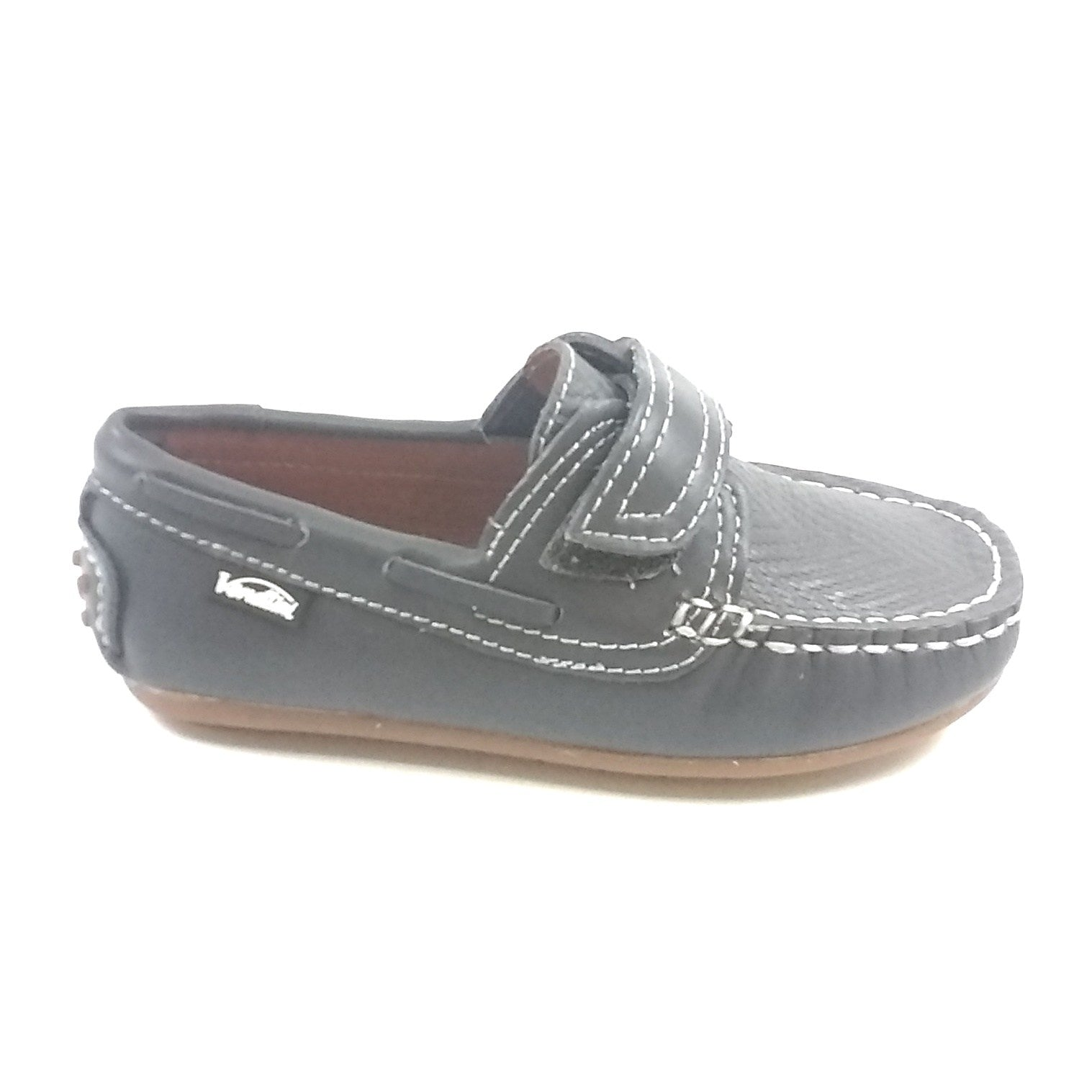 Venettini Gray Velcro Moccasin