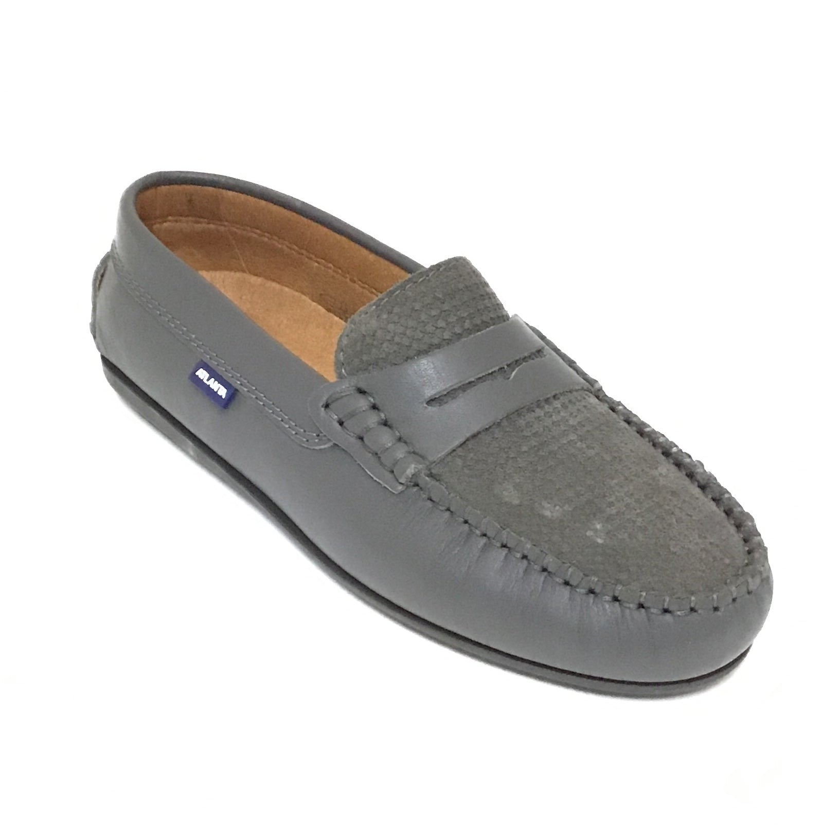 Atlanta Mocassin Gray Penny Loafer