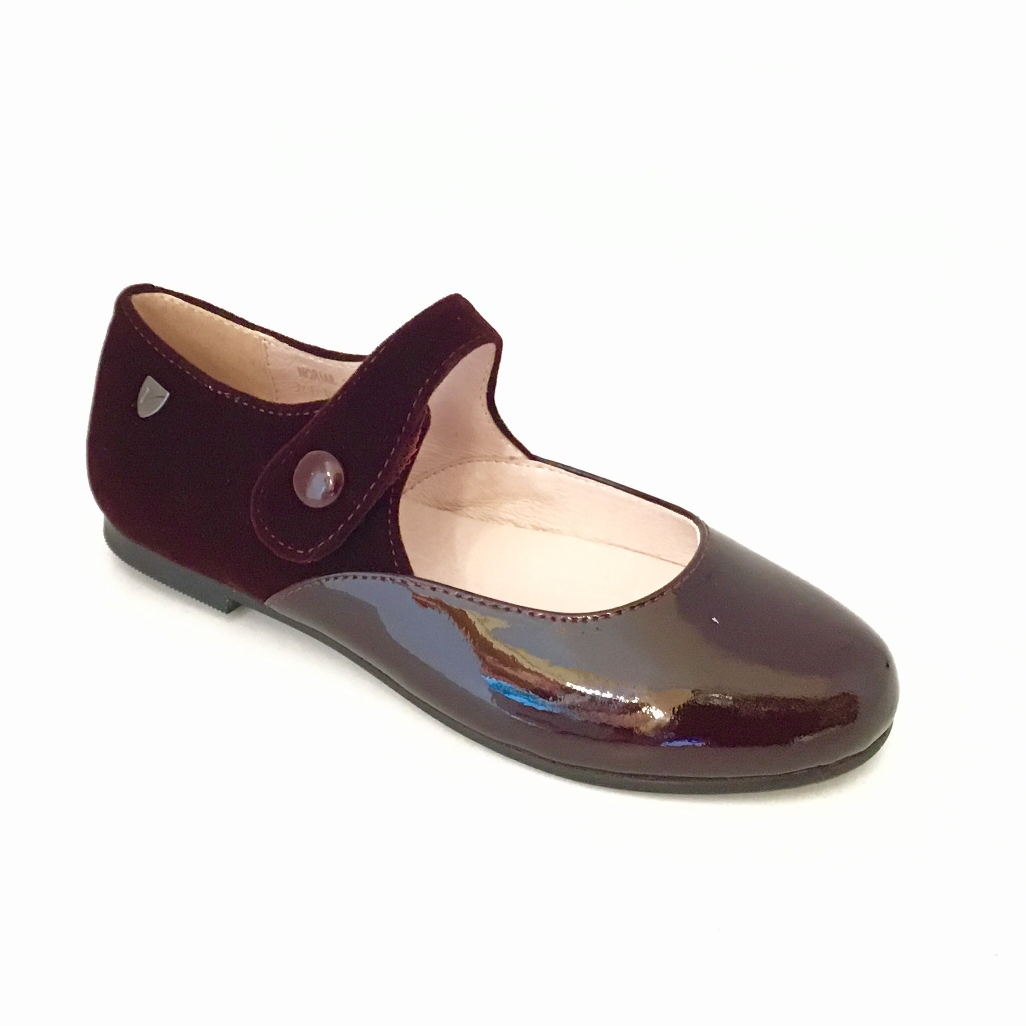 Venettini Bordeaux Patent and Velvet Mary Jane