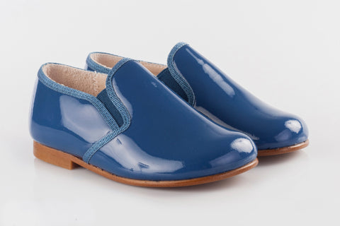 Beberlis Blue Patent Loafer