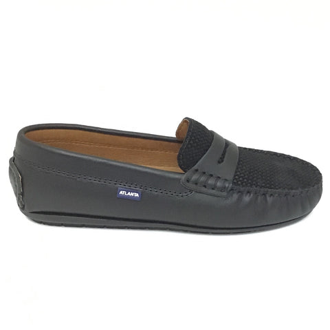 Atlanta Mocassin Black Penny Loafer