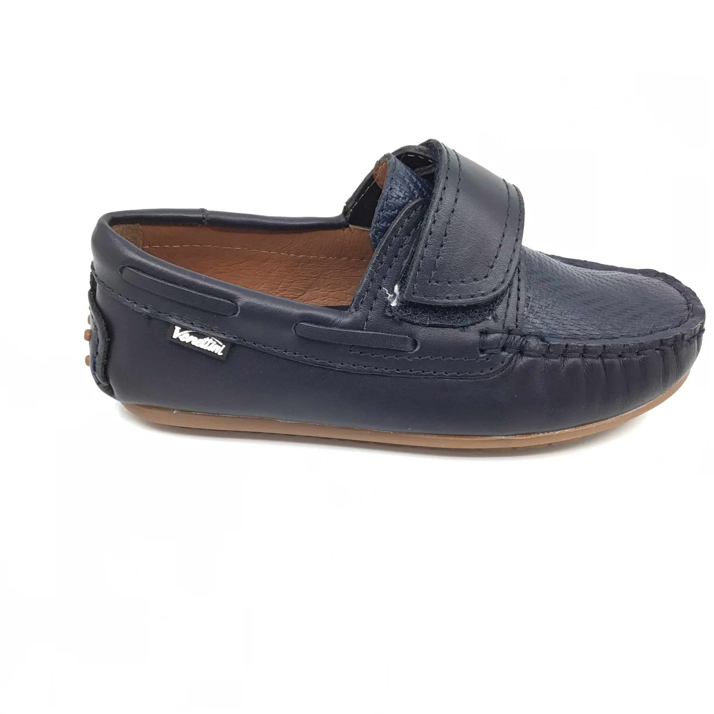 Venettini Navy Velcro Moccasin