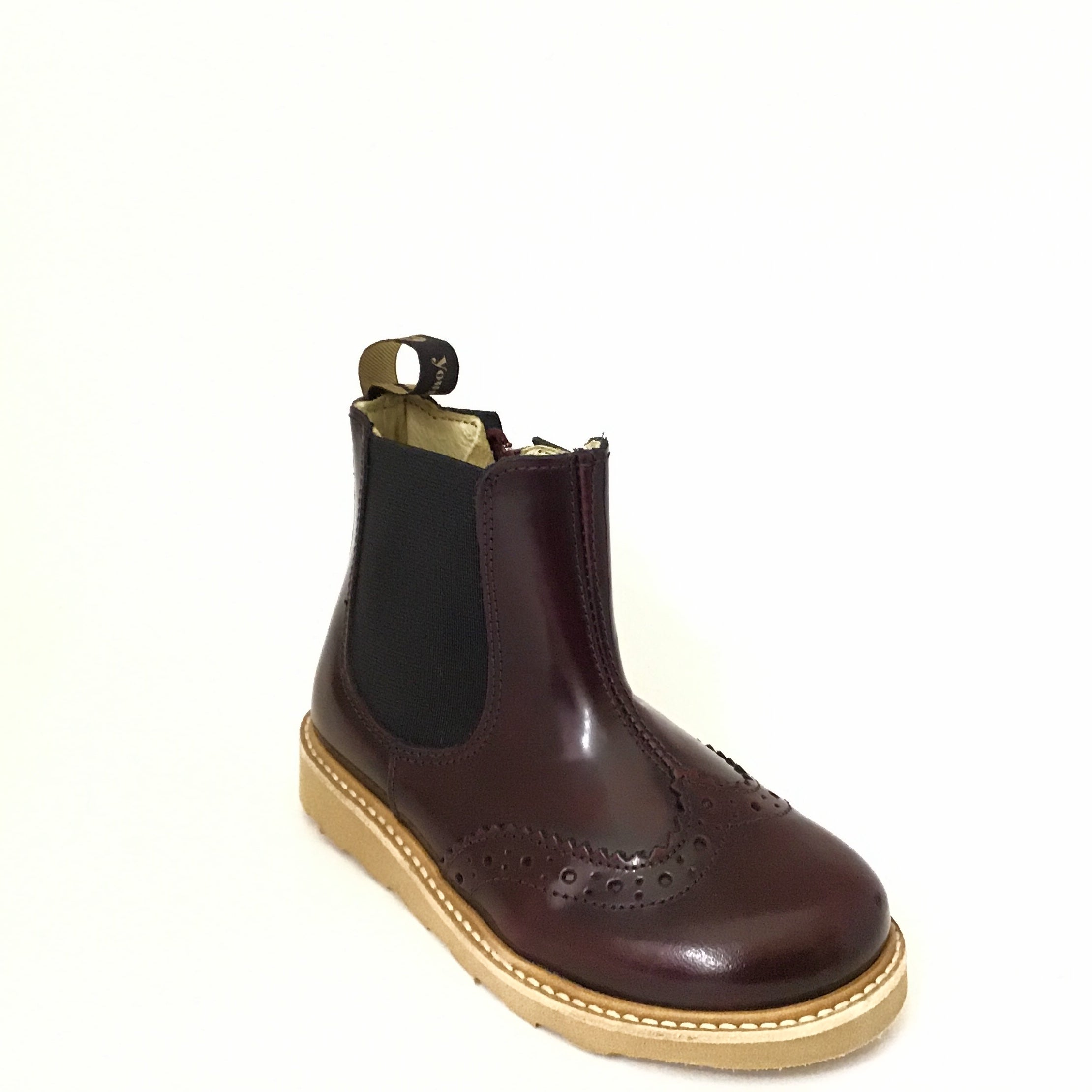 Young Soles Burgundy Elastic Boot