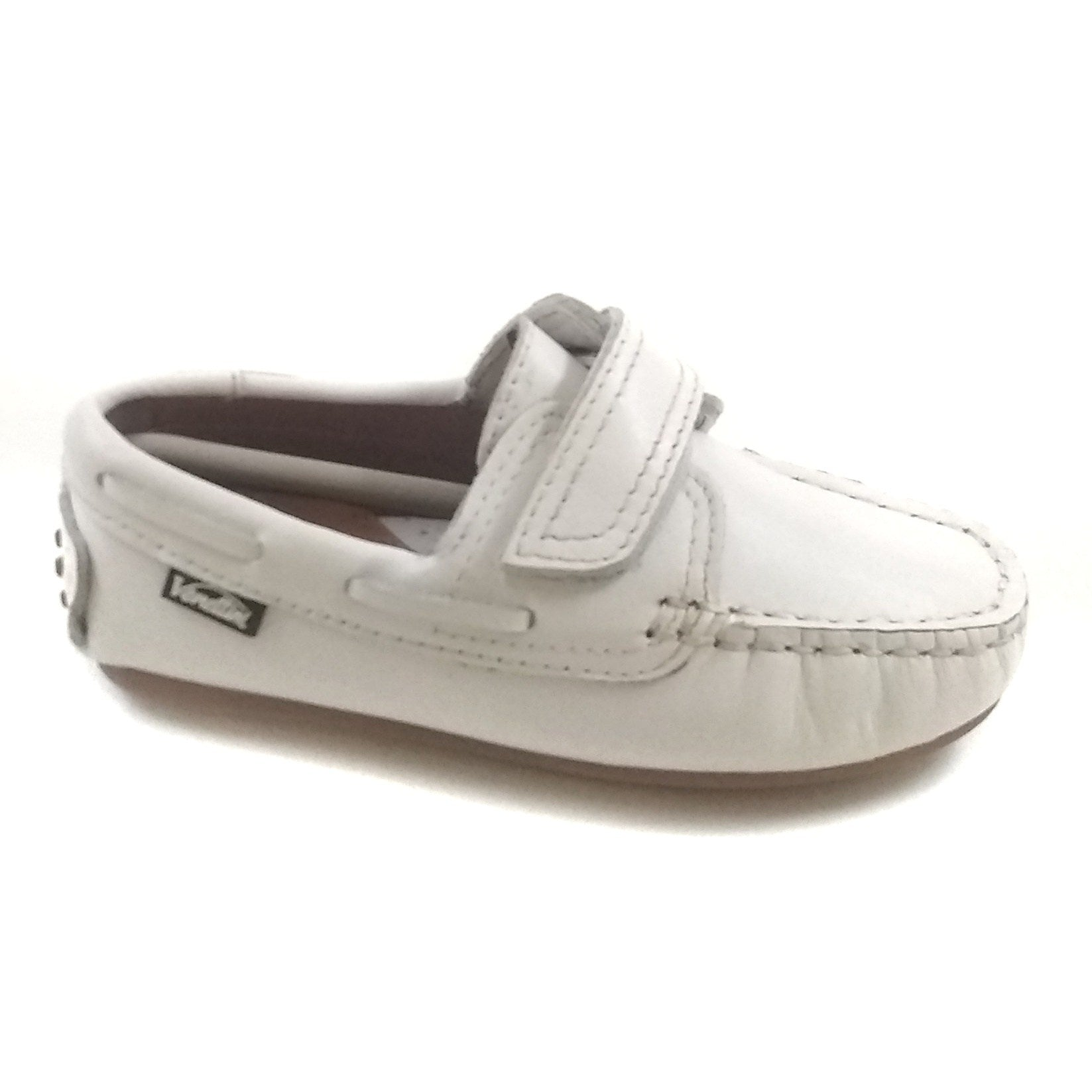 Venettini White Velcro Moccasin