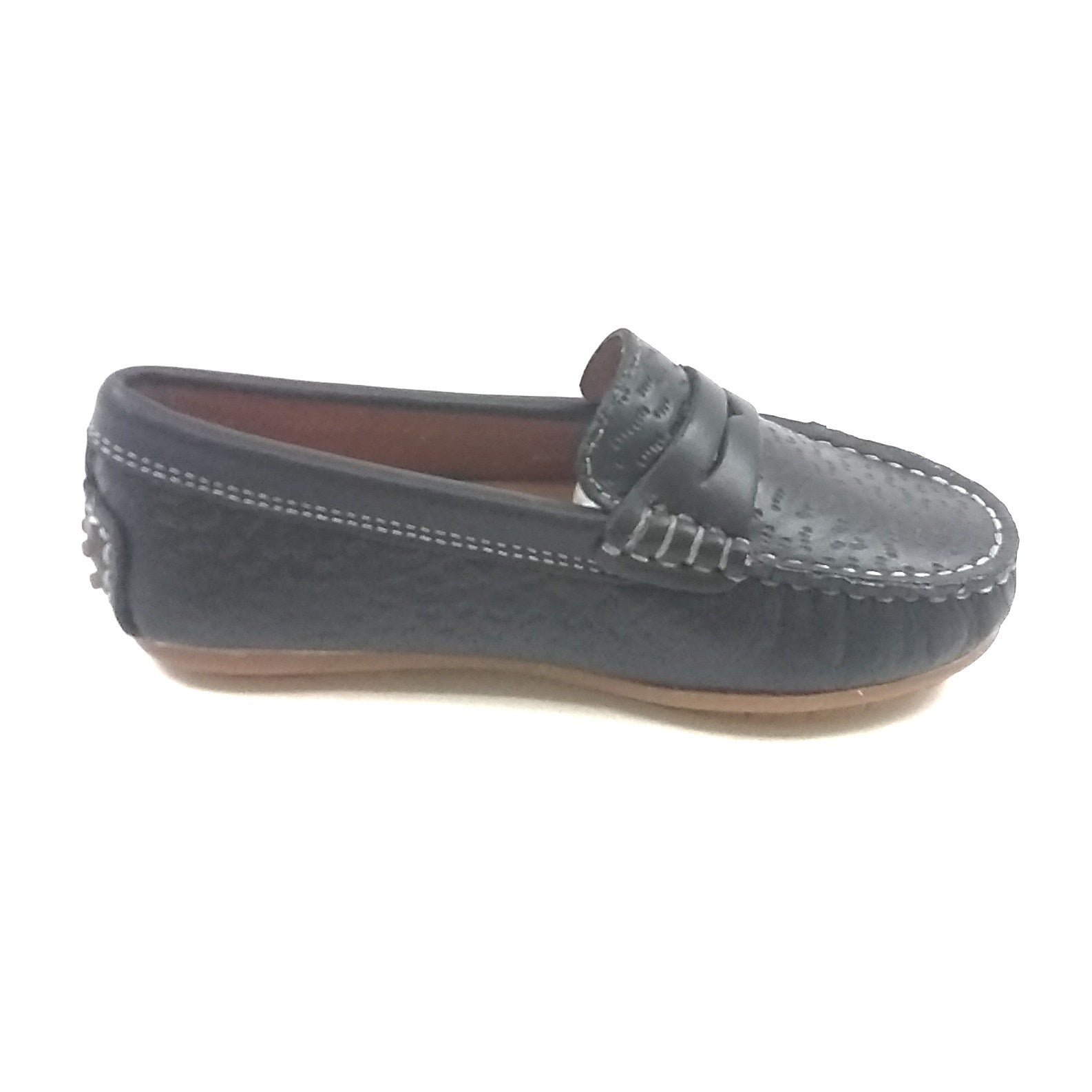 Venettini Navy Textured Penny Loafer