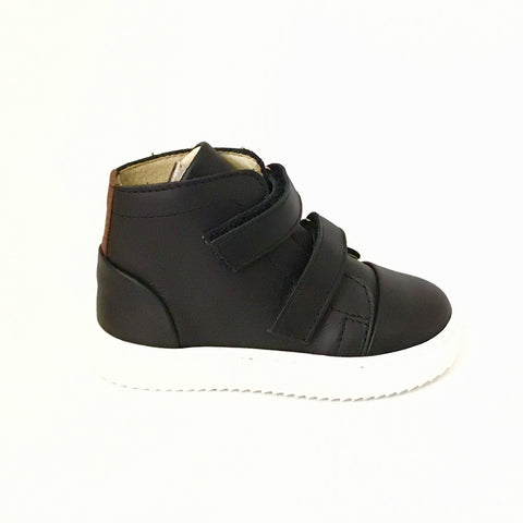 Young Soles Black Hi Top with Velcro Straps
