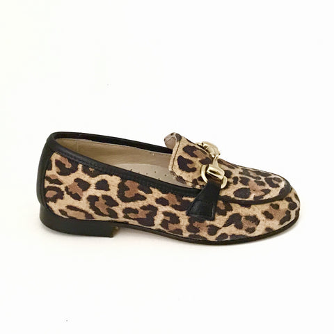 Hoo Leopard Chain Loafer