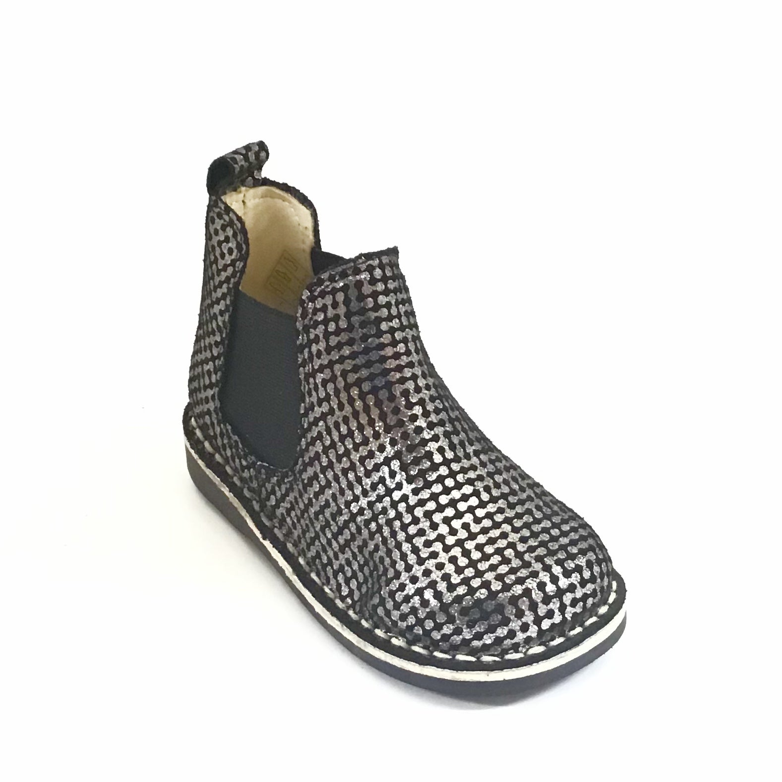 Sonatina Silver and Black Boot with Elastic