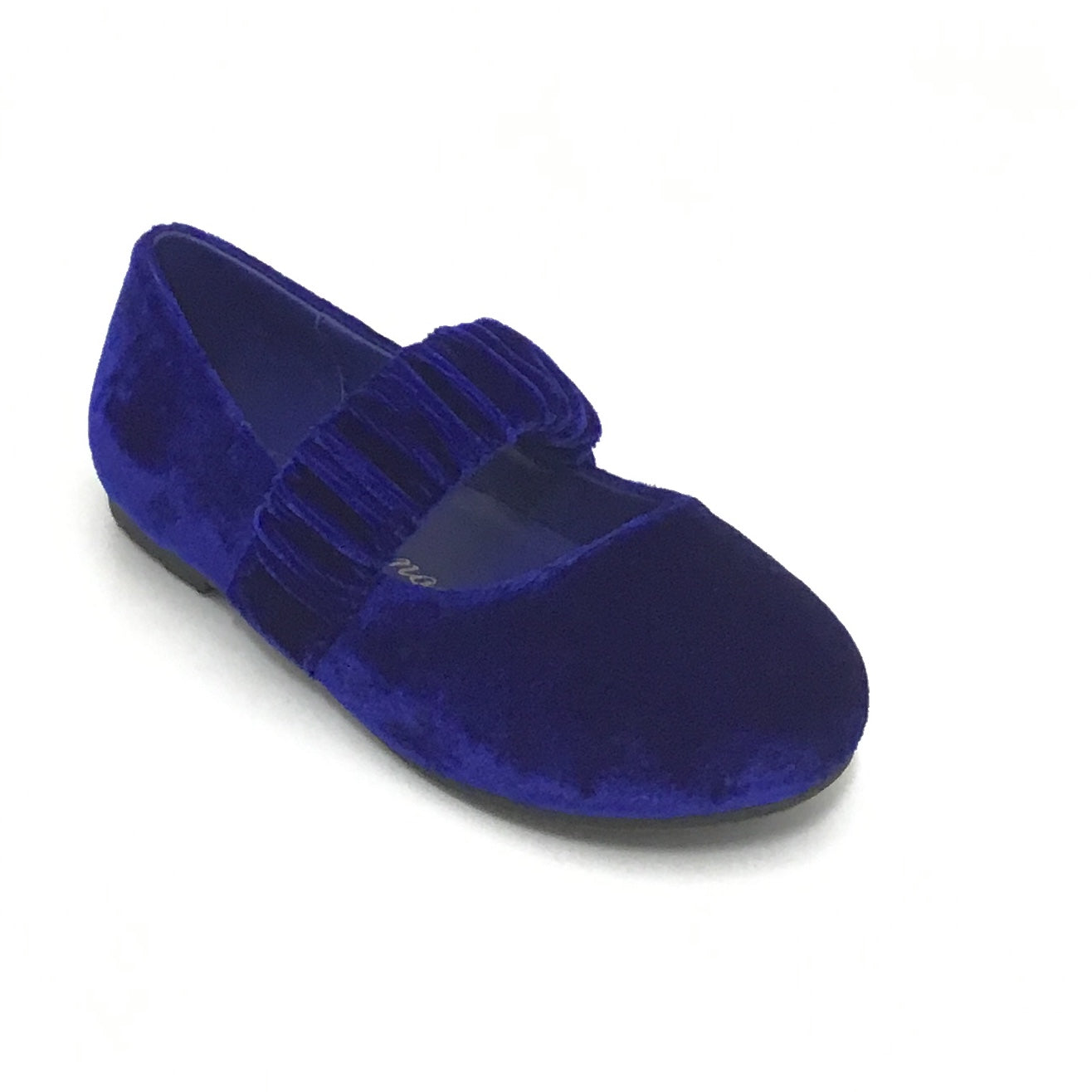 Age of Innocence Royal Blue Velvet Shoe With Elastic