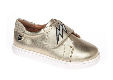 Venettini Gold Sneaker with Strap