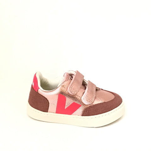 Veja Pink and Silver Sneaker