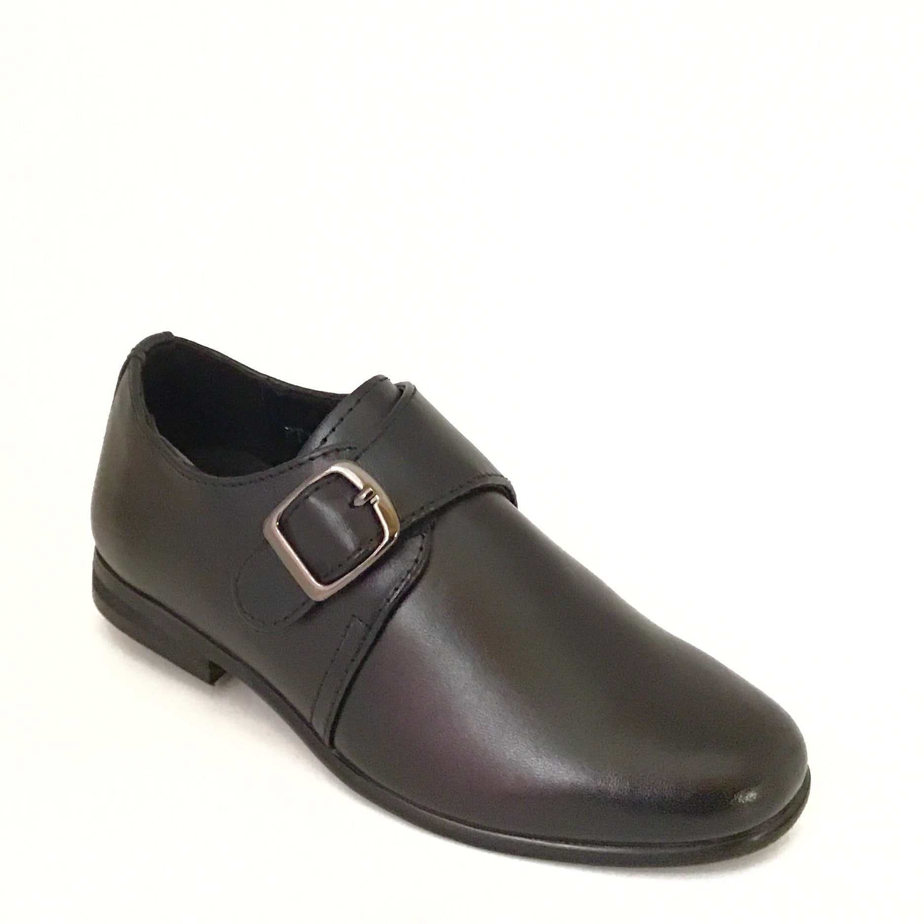 Pardo Black Velcro Buckle Dress Shoe