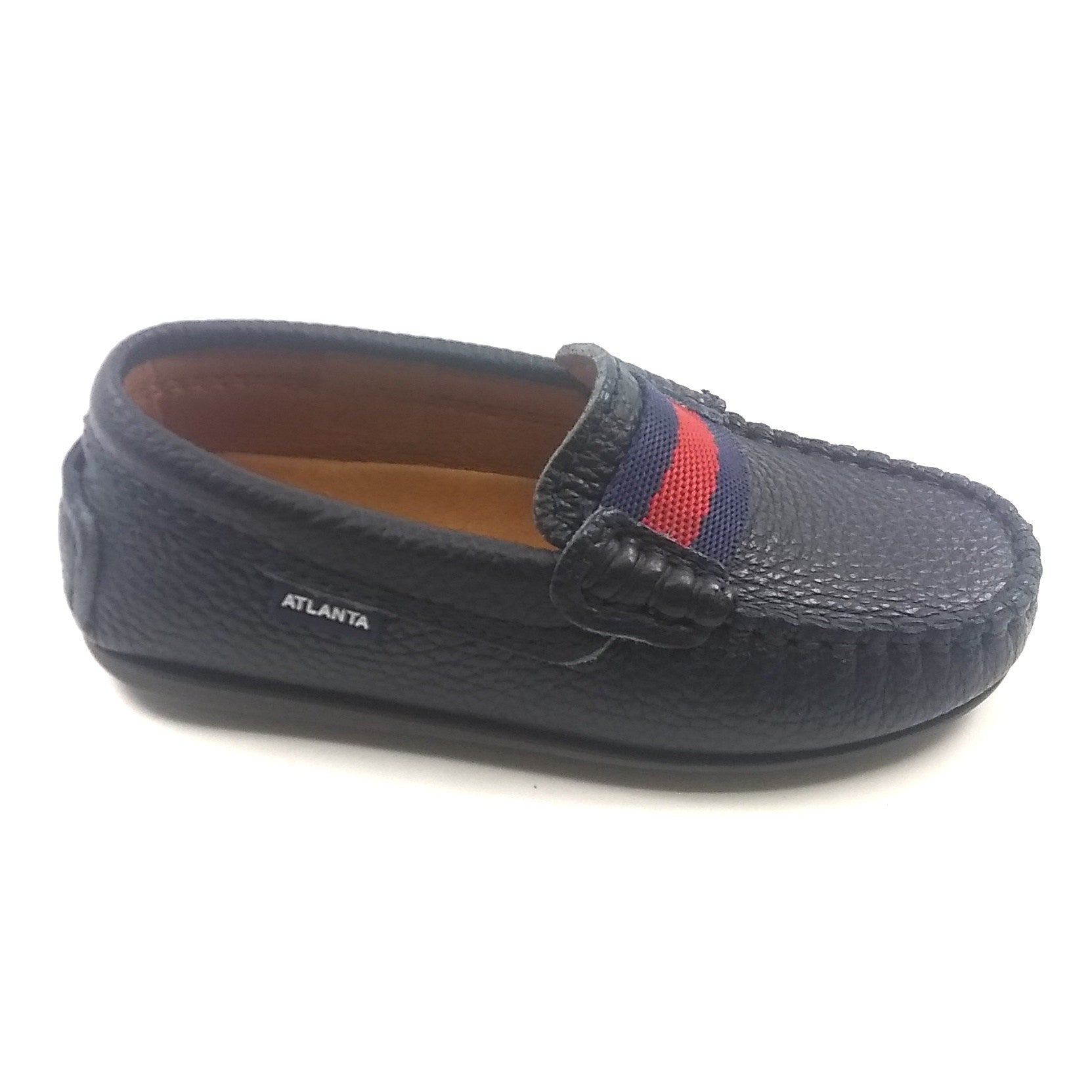 Atlanta Mocassin Navy Strap Loafer