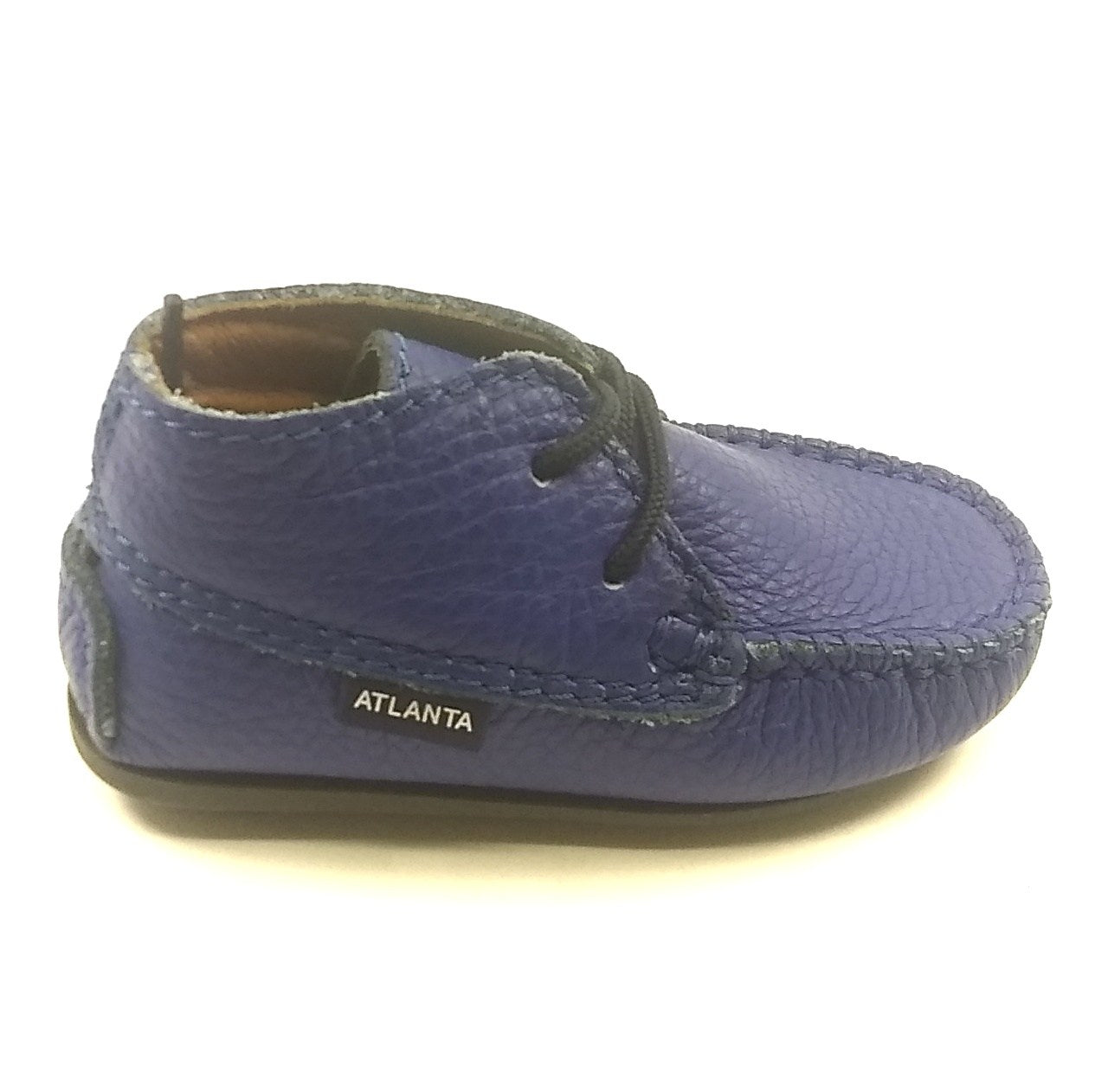 Atlanta Mocassin Blue Laceup First Shoe