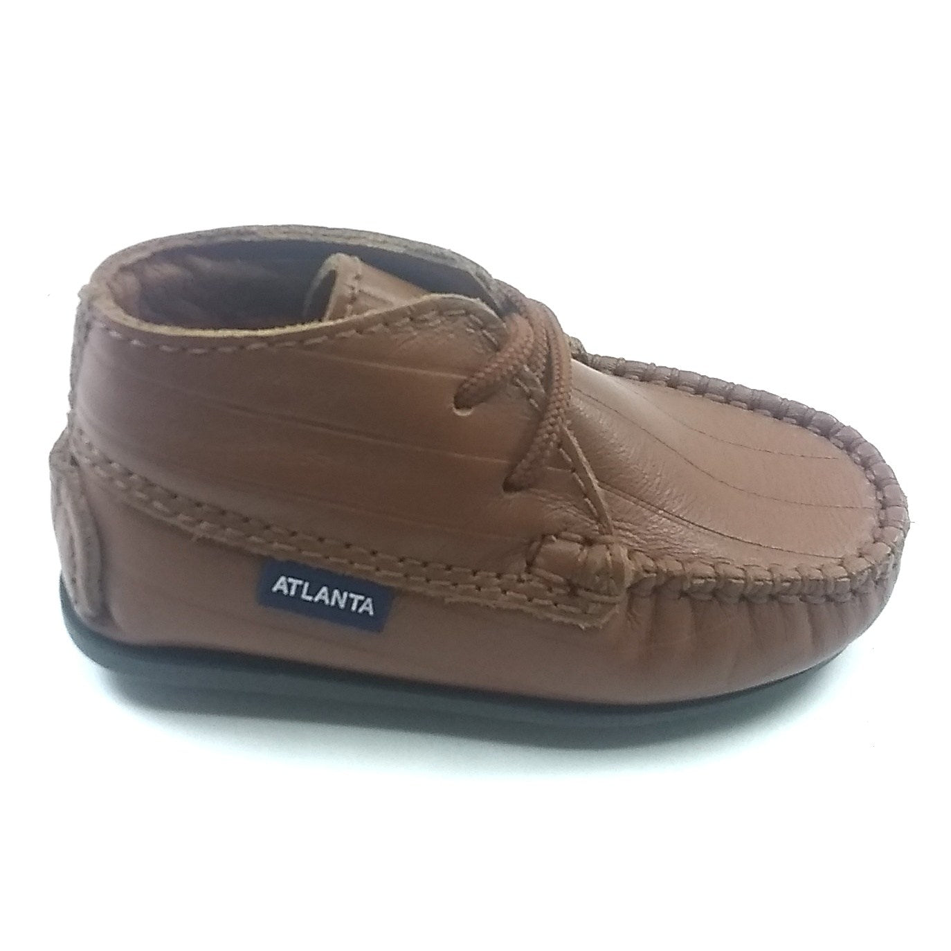 Atlanta Mocassin Brown Laceup First Shoe