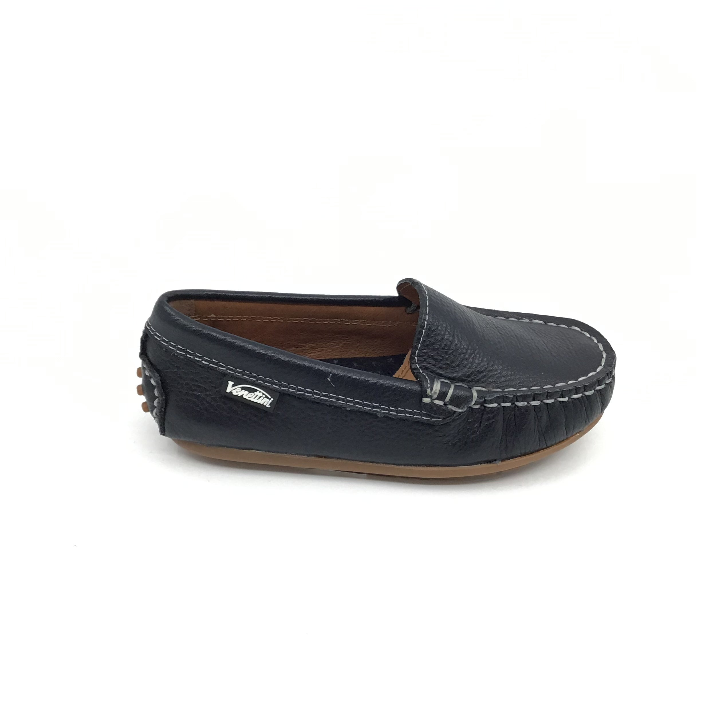 Venettini Dark Navy Stitched Loafer