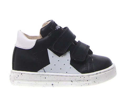 Falcotto Black High Top Sneaker With White Star