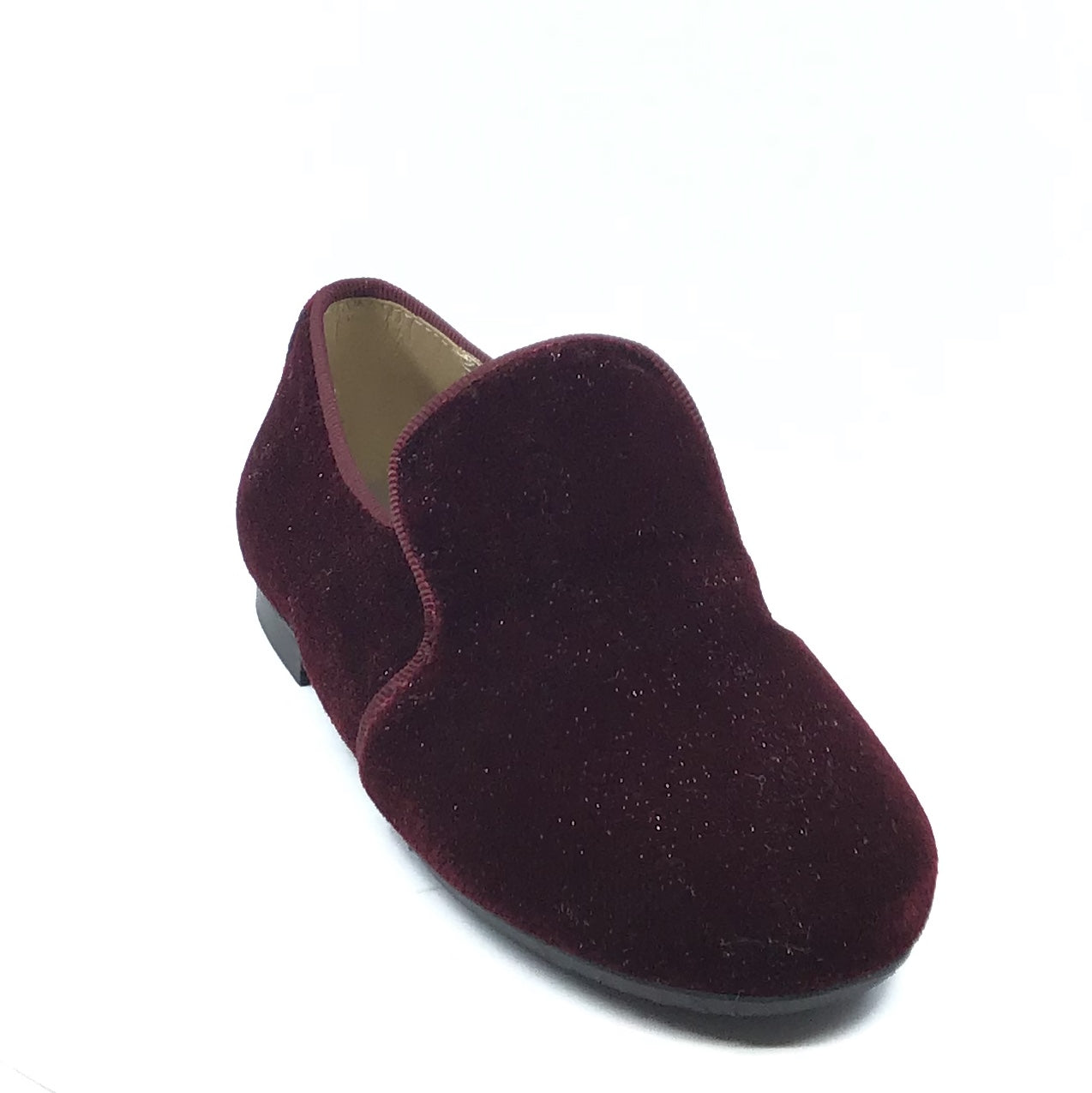 Papanatas Maroon Velvet Slip On