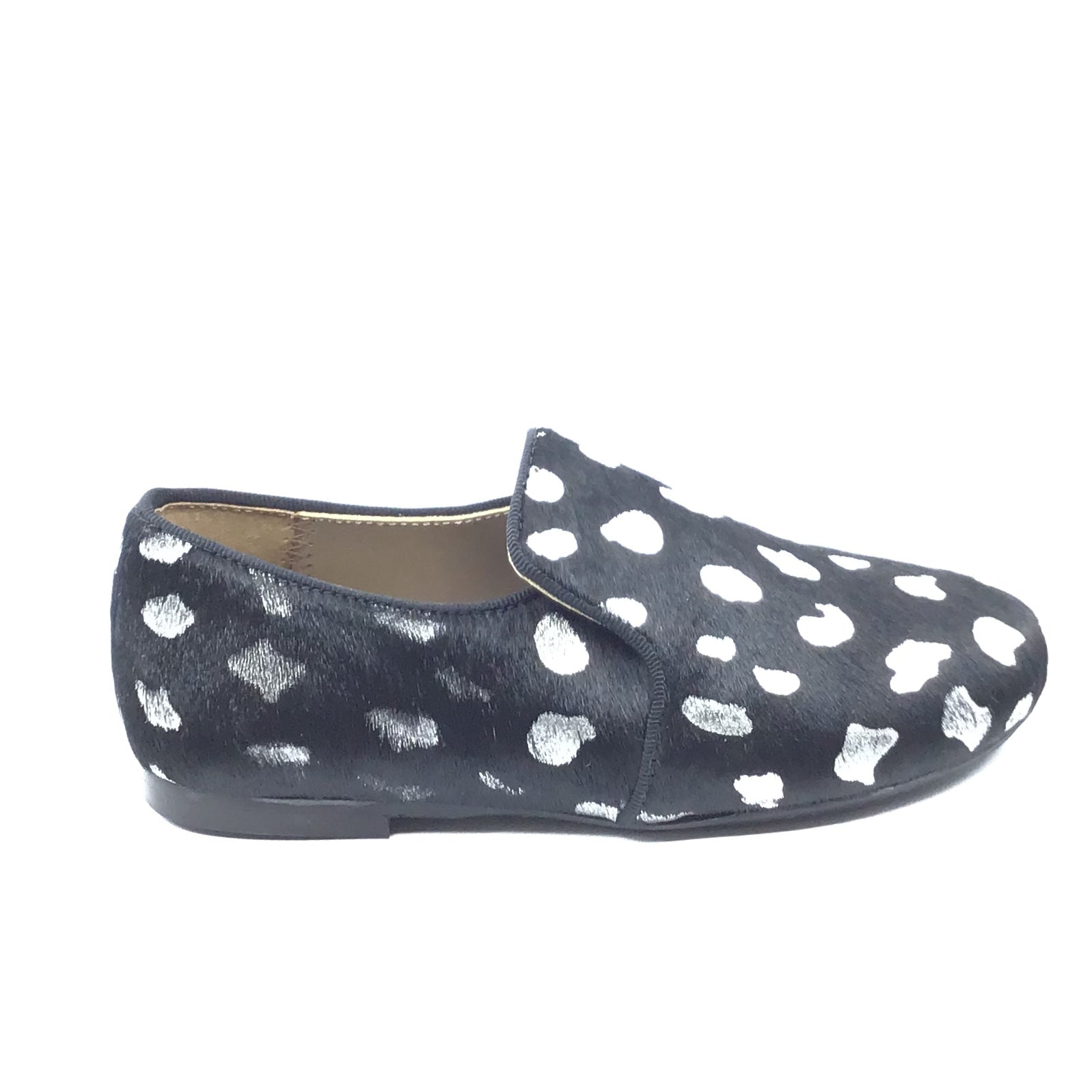 Papanatas Black Leopard Print Slip On