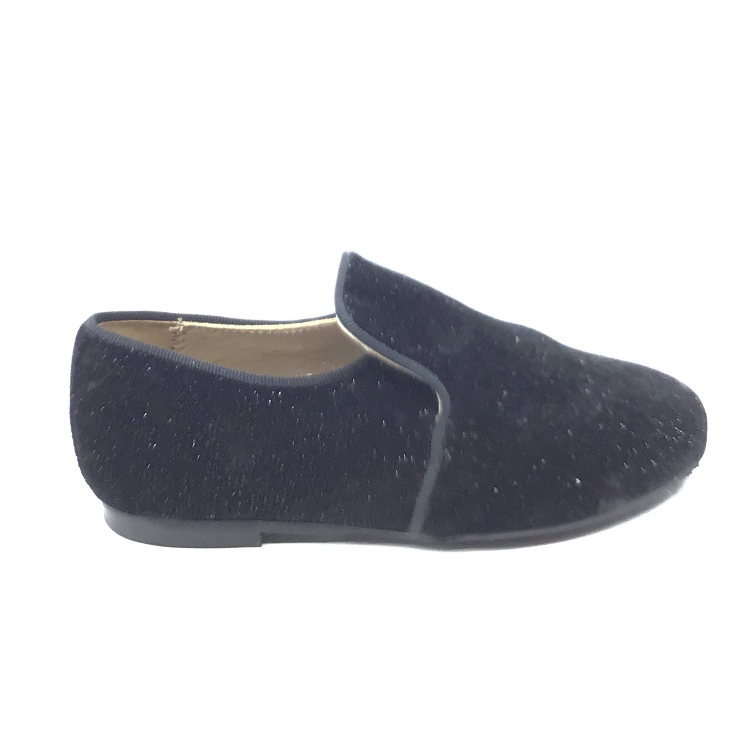 Papanatas Black Velvet Slip On