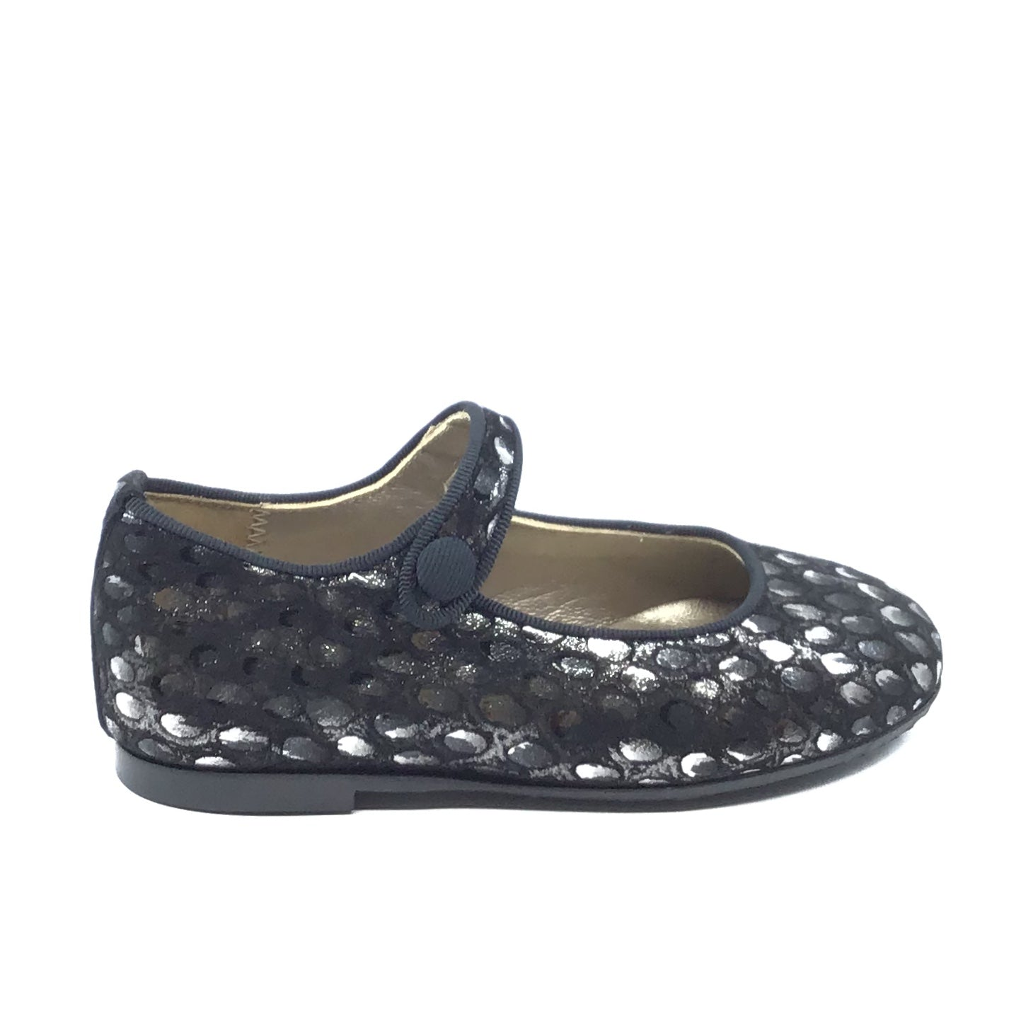 Papanatas Black Print Mary Jane 6315Z