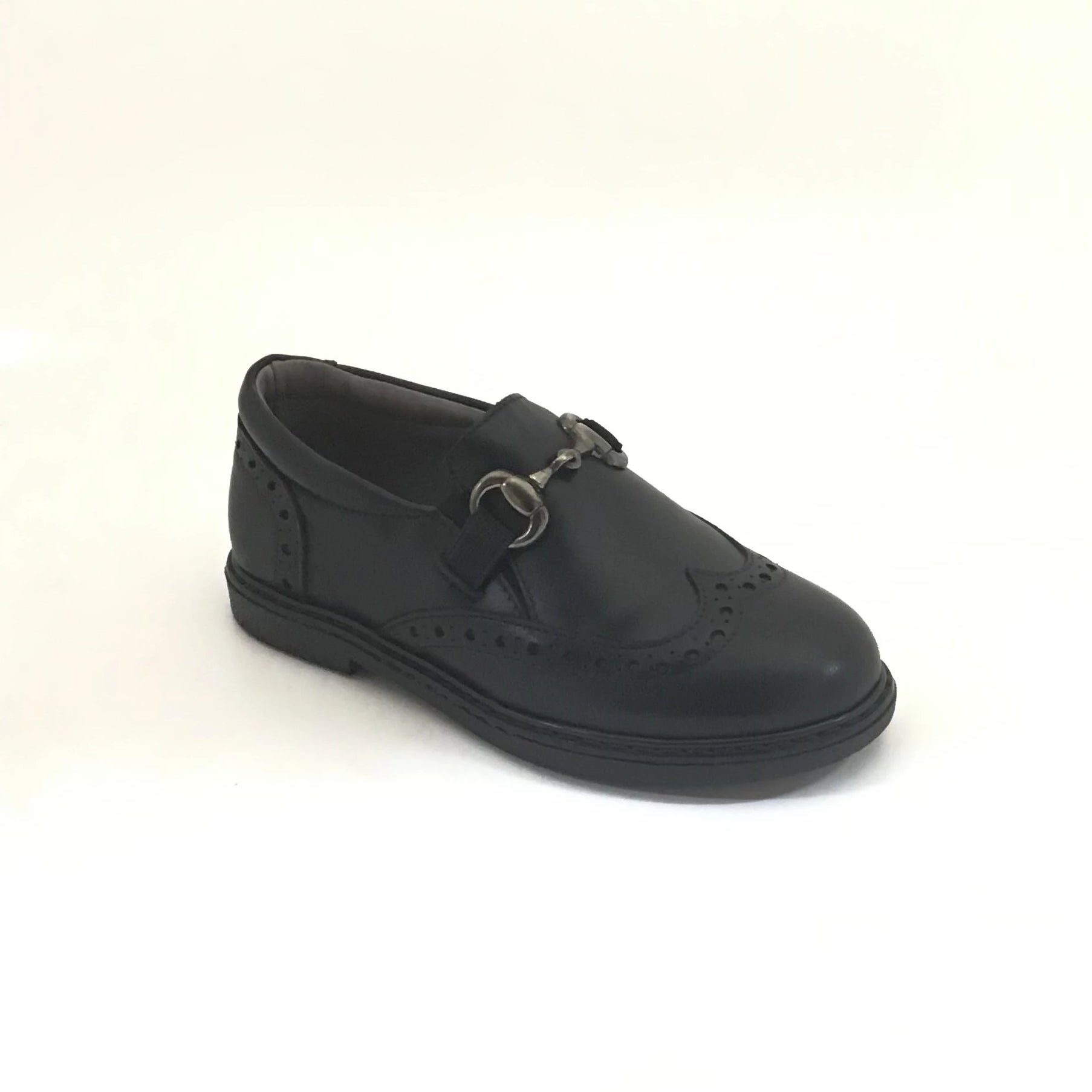 Blublonc Black Slip On With Chain