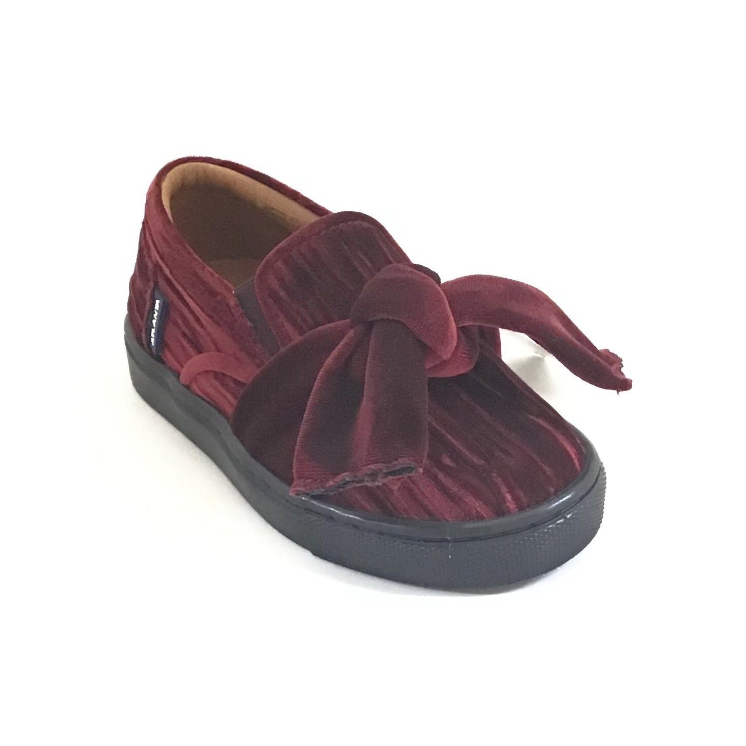 Atlanta Mocassin Burgundy Big Bow Sneaker