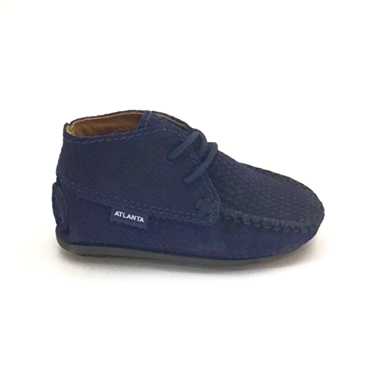 Atlanta Mocassin Blue Suede Lace Up Mocassin
