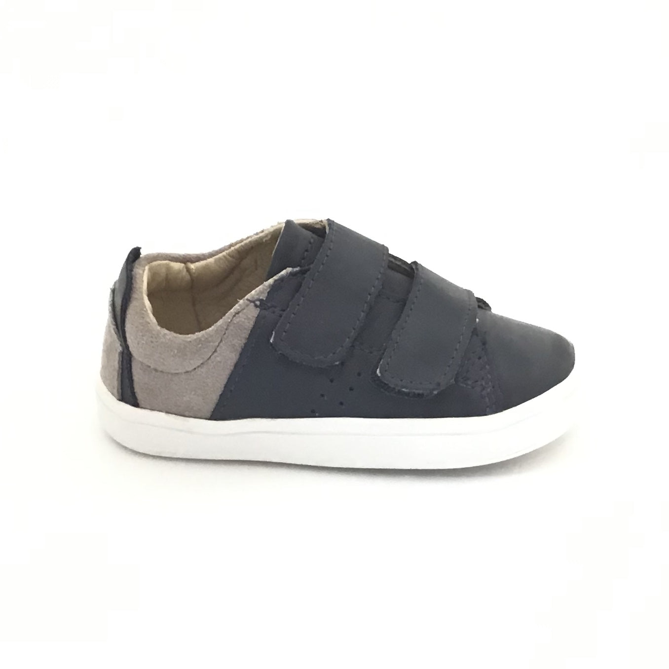 Old Soles Grey and Navy Sneaker with Double Velcro