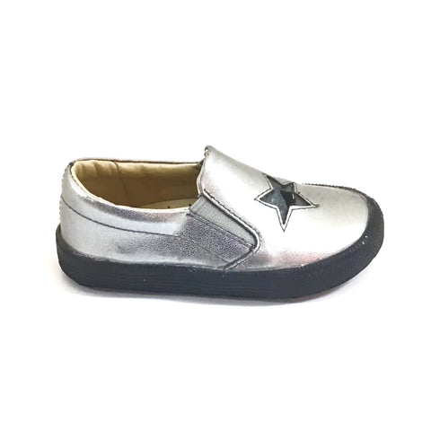 Old Soles Silver Slip-on with Star