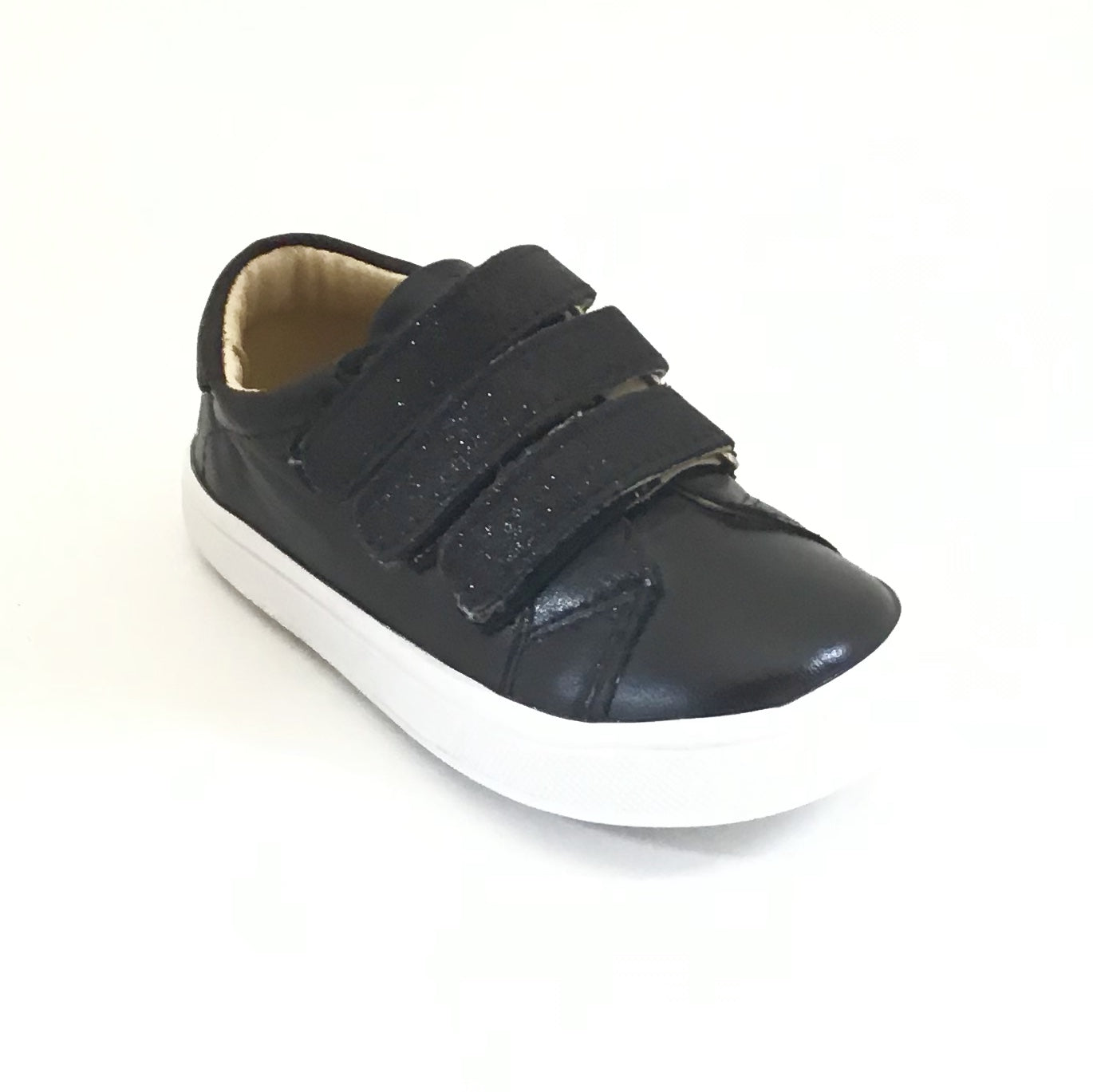 Old Soles Black Sneaker with Triple Velco Straps