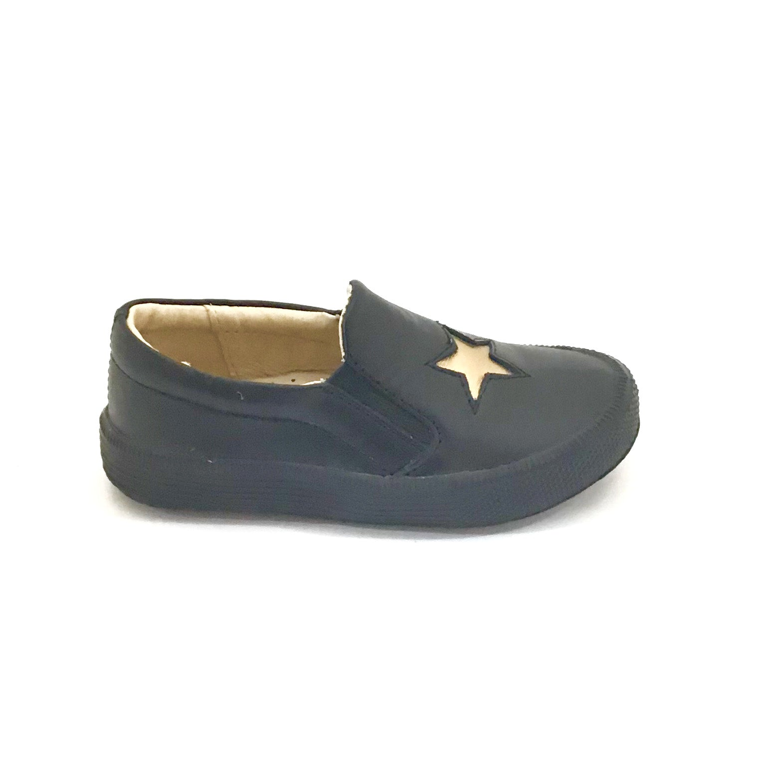 Old Soles Black Slip-on with Star