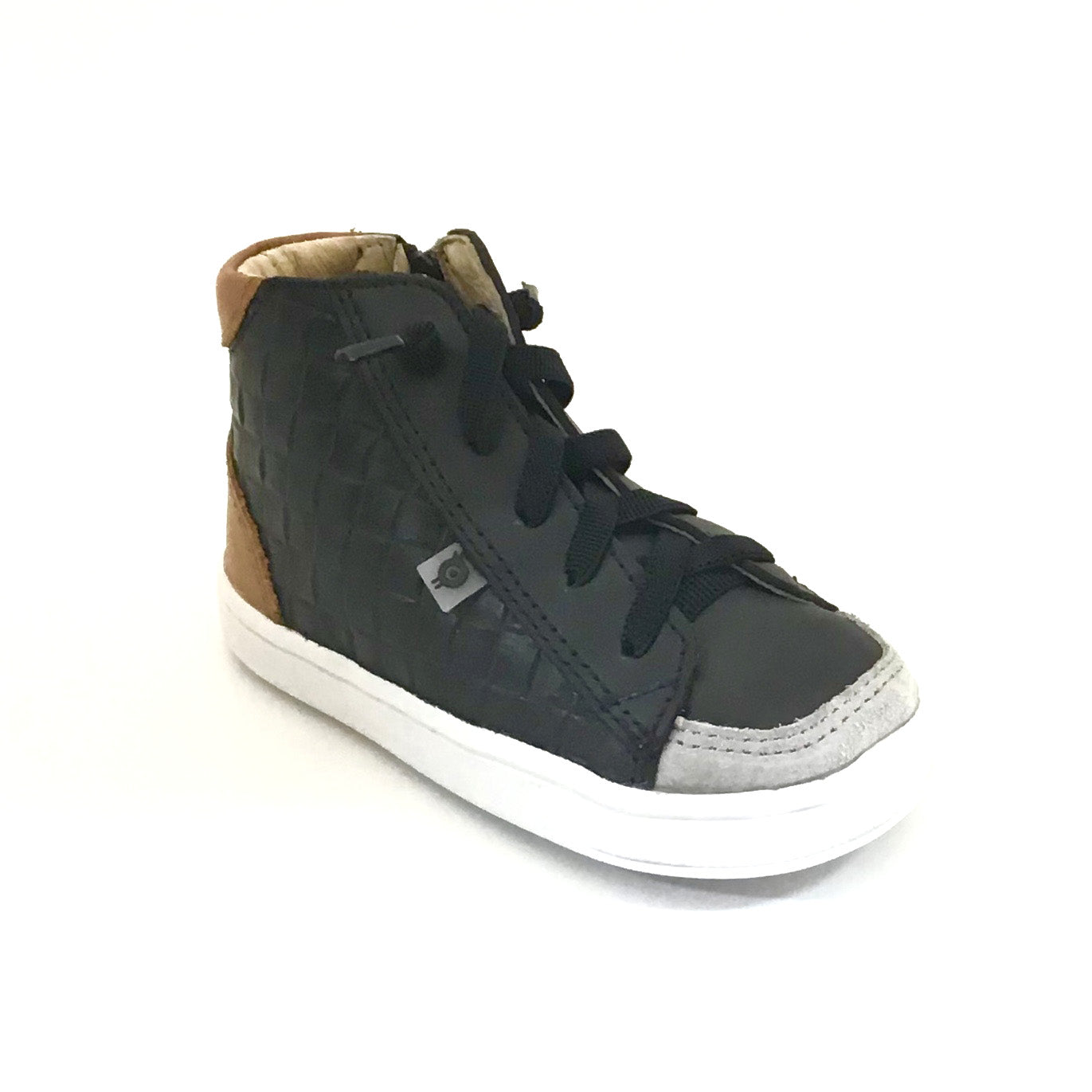 Old Soles Black Weave High Top Sneaker with Laces