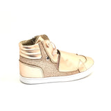 Old Soles Titanium High Top Sneaker with Velco Strap
