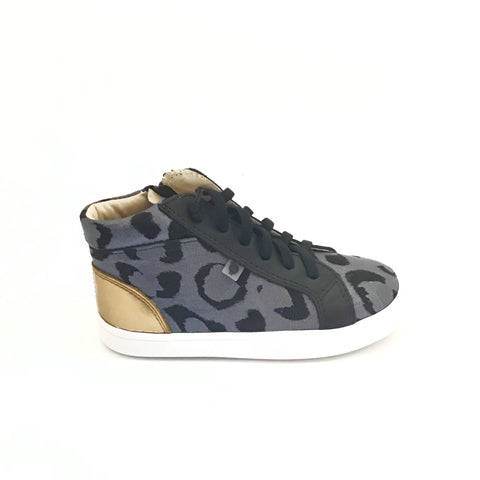 Old Soles Silver Cat Print Sneaker with Laces