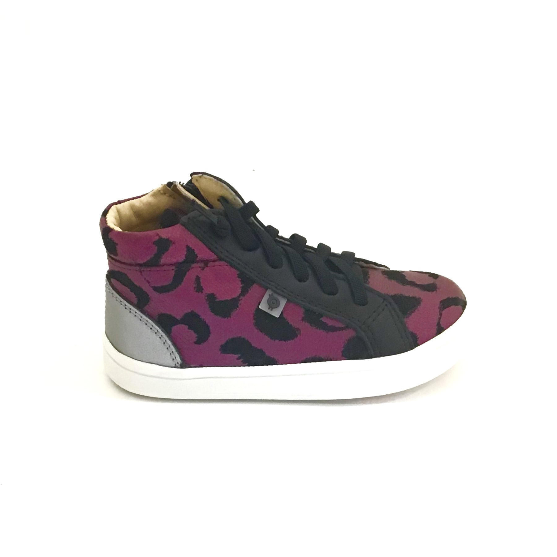 Old Soles Pink Cat Print High Top Sneaker