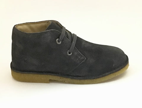 Naturino Charcoal Suede Laced Shoe