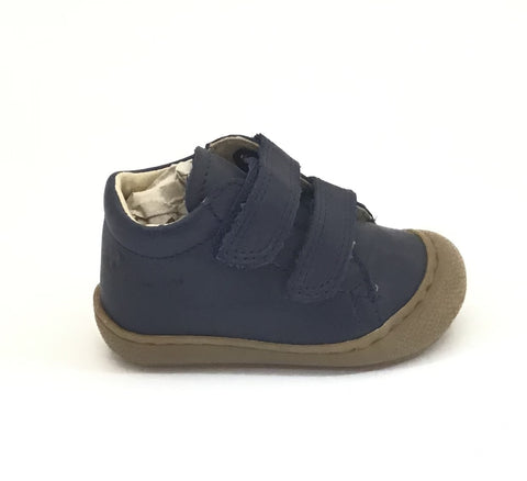 Naturino Navy Shoe with Double Velcro
