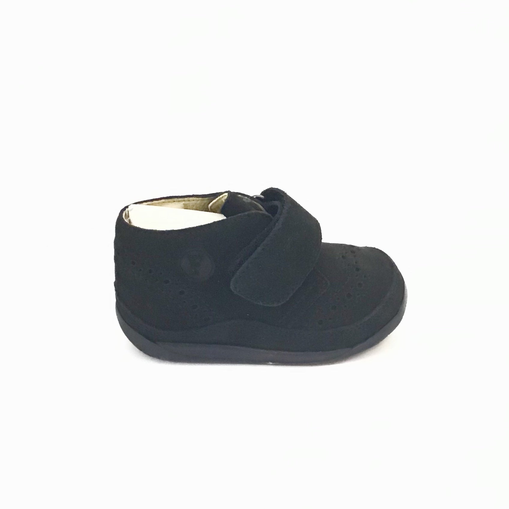 Falcotto Black Velour Shoe with Velcro