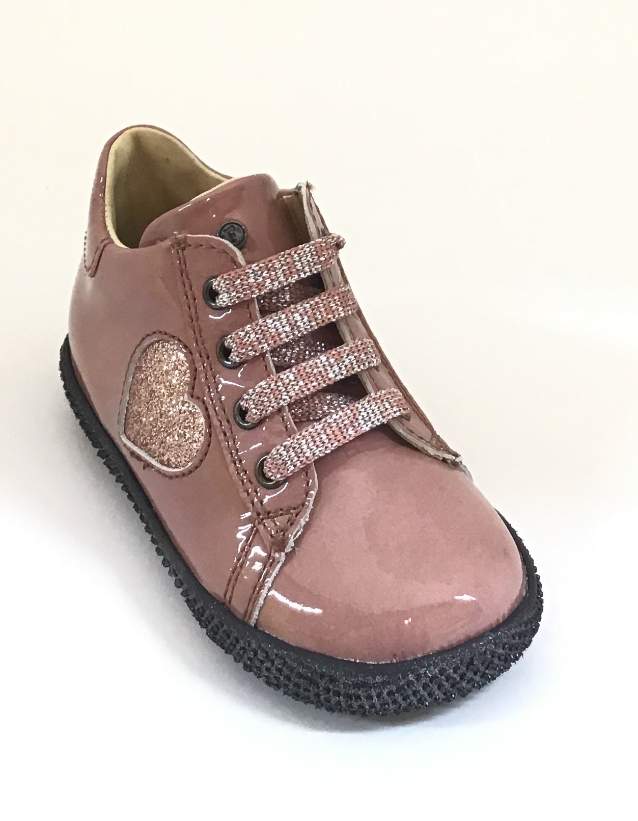 Falcotto Pink Laced Shoe with Heart