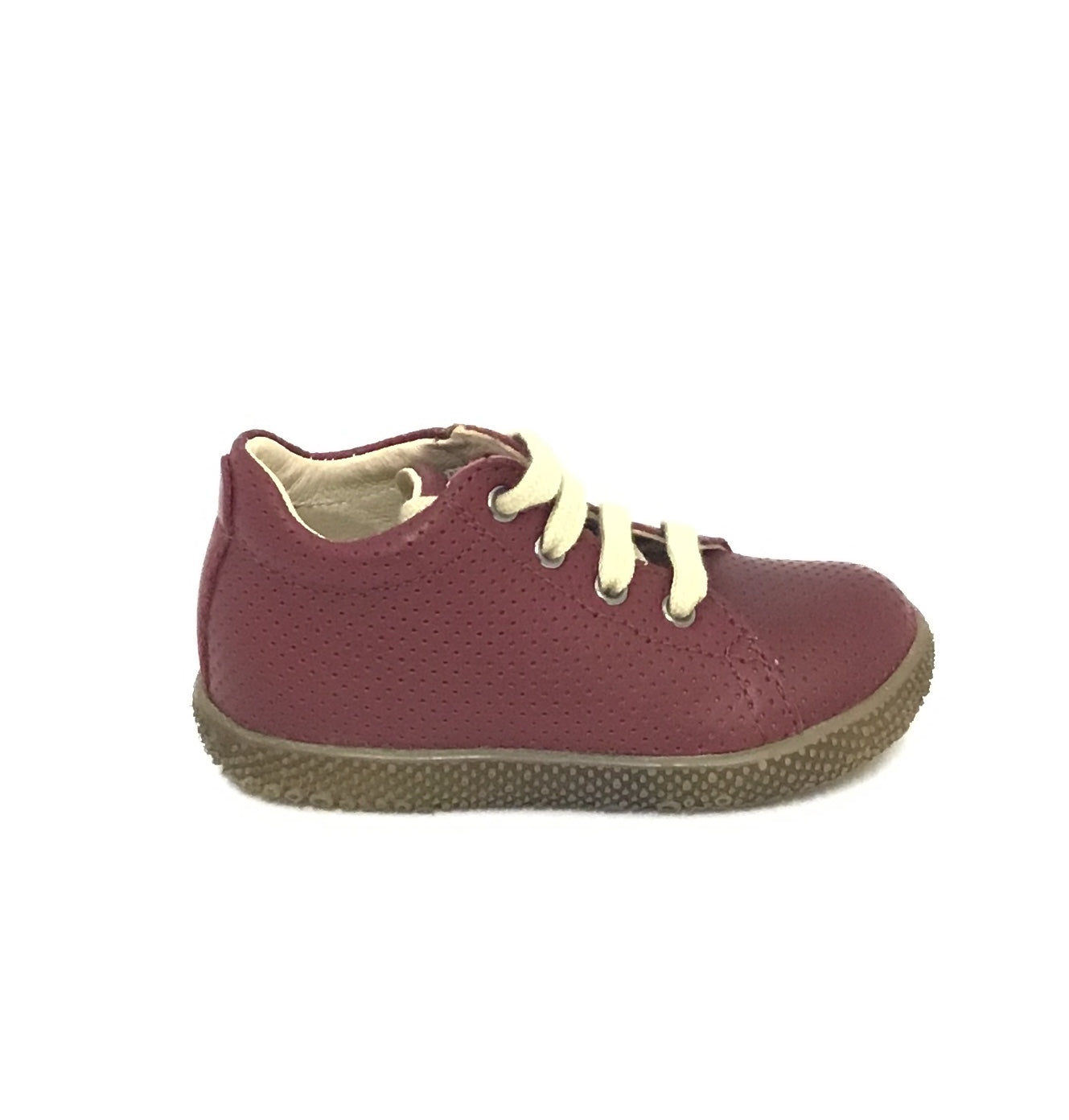 Falcotto Burgundy Perforated Laced Shoe