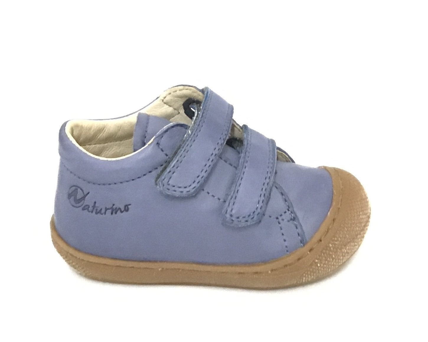 Naturino Light Blue Shoe with Double Velcro