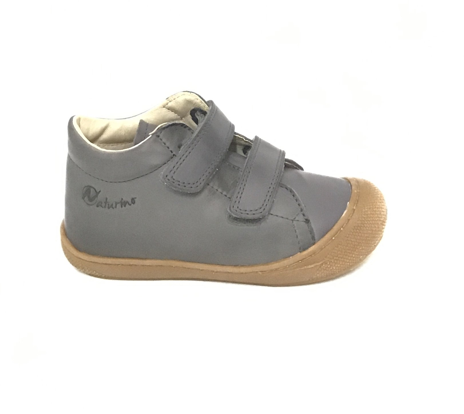 Naturino Charcoal Shoe with Double Velcro