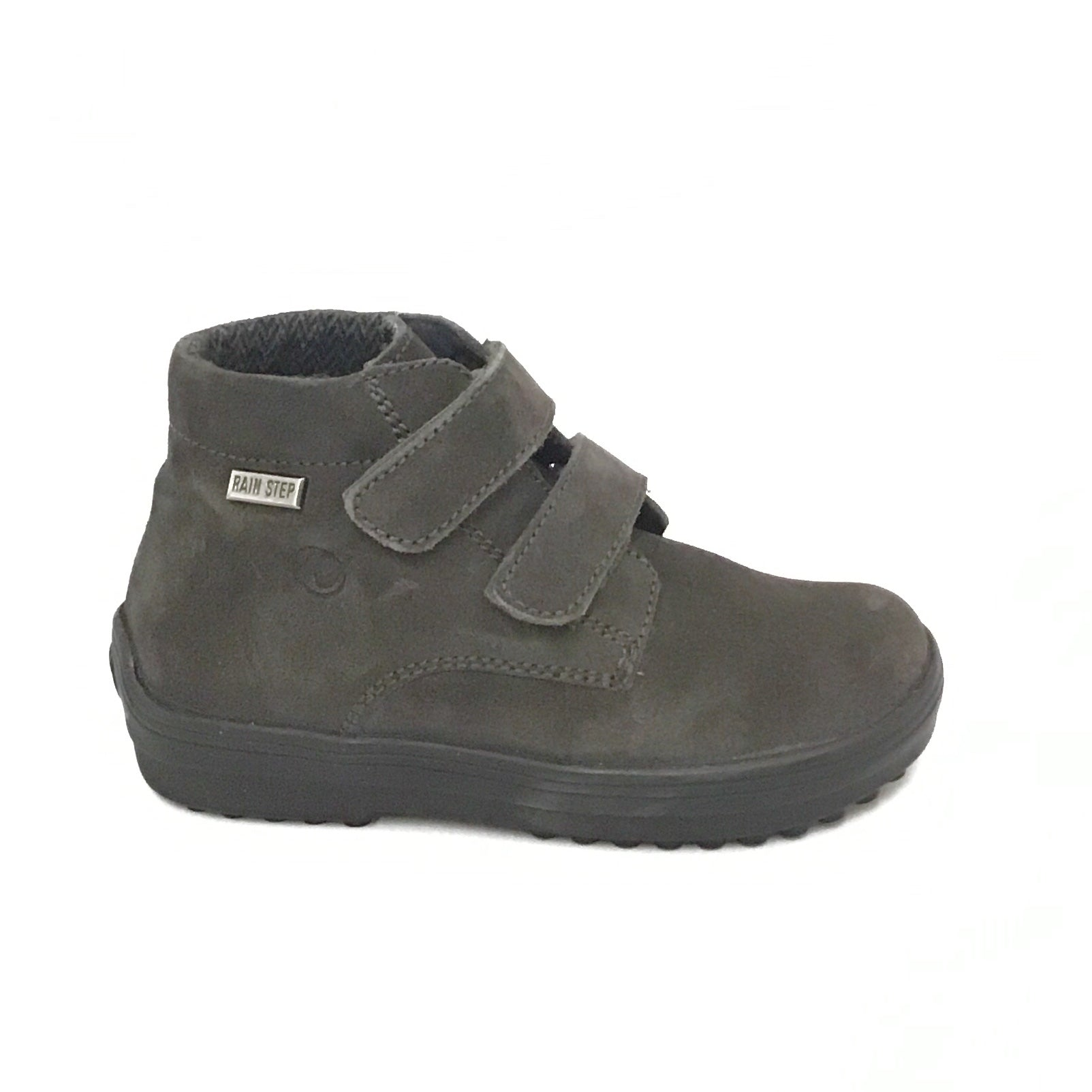 Naturino Charcoal Velour Shoe with Double Velcro