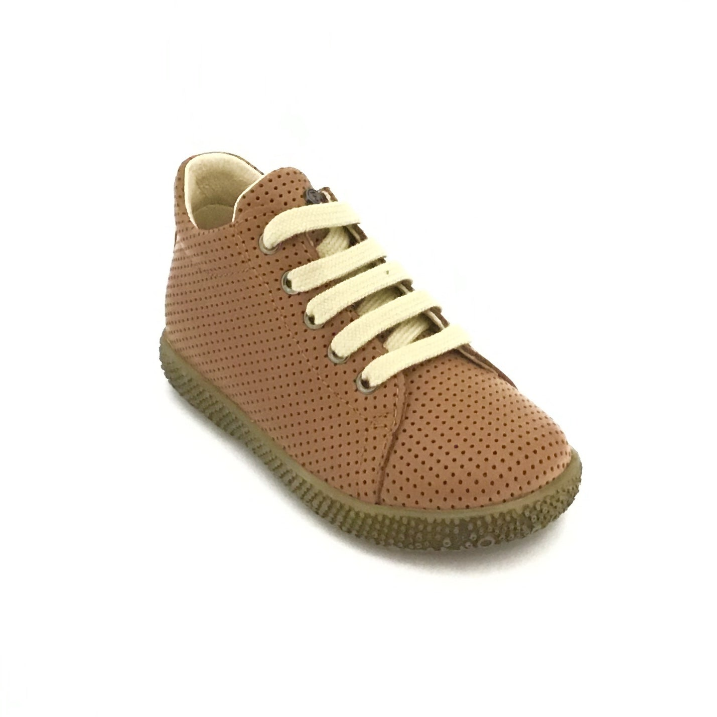 Falcotto Cognac Perforated Laced Shoe