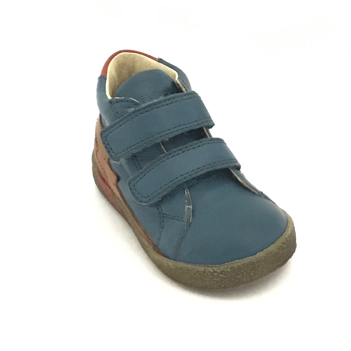 Falcotto Denim Shoe with Double Velcro