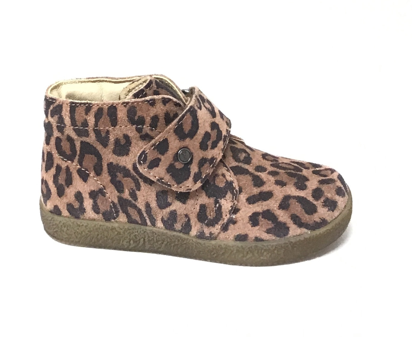 Falcotto Tan Leopard Print Shoe with Velcro