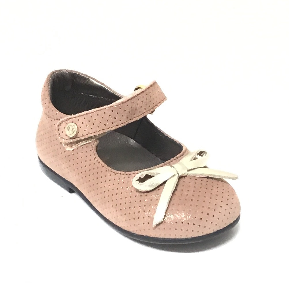 Naturino Beige Textured Maryjane with Bow