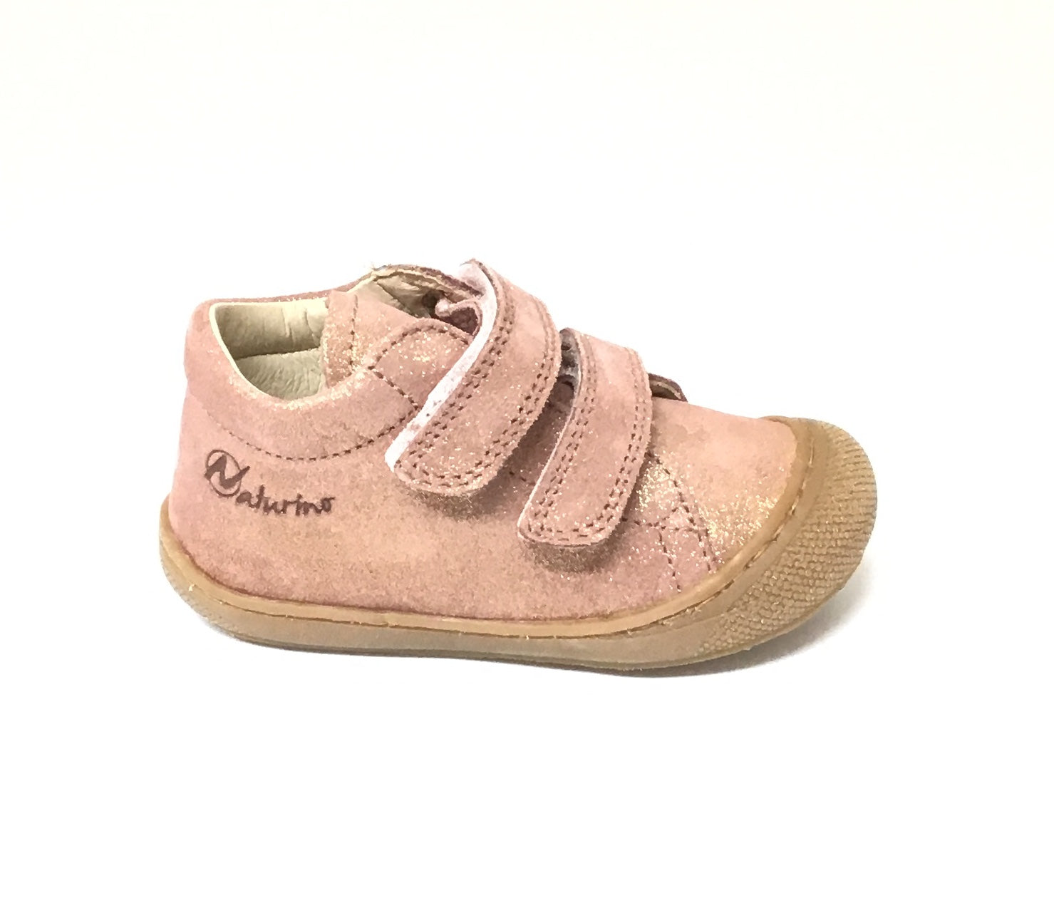 Naturino Pink Glitter Shoe with Double Velcro